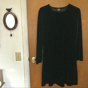 Vintage Black Velvet Teddi Evening Dress